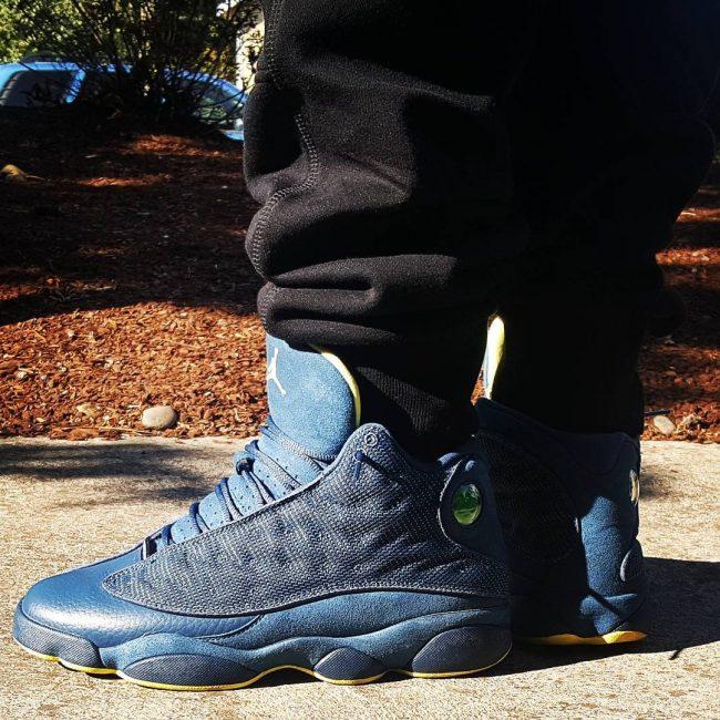5 Jordan 13's in Squadron Blue