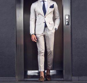 6 Cream White Designer Suit