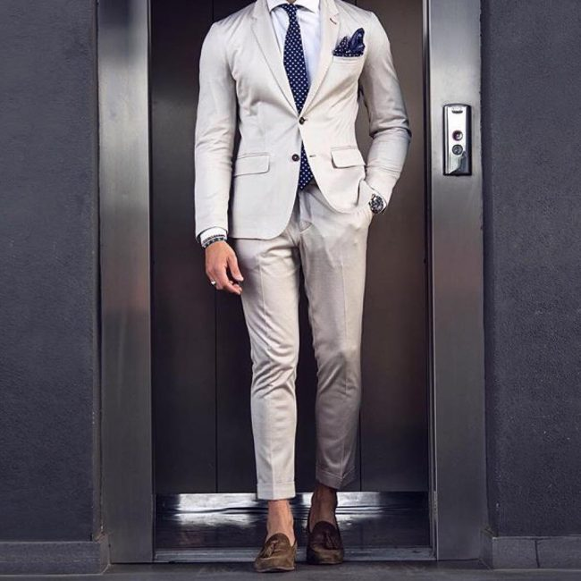 6 Cream White Designer Suit