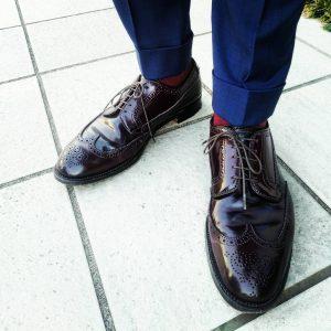 6 Dark Tan Brogue Cap Toe Shoes