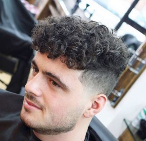 6 Faded Permed Shape-Up with Fringe