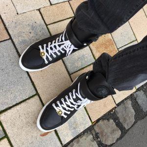 6 High Black and White Sneaker