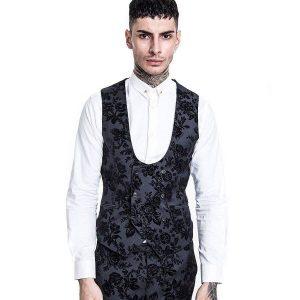 7 Black Fleet Waistcoat With Matching Trouser