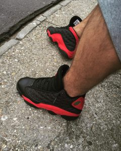 7 Brilliant Red on Black Sneakers