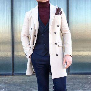 7 Deep Blue Two Button Suit Vest