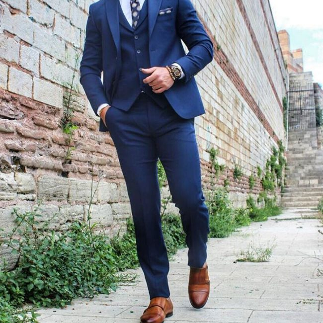 7 Fitted Classy Royal Blue 3-Piece Suit