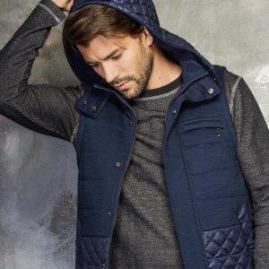 8 Blue Designer Hood Vest