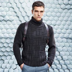 8 Brilliant Turtleneck with Gray Pants