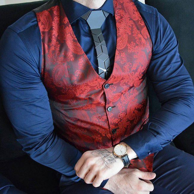8 Designer Suit Vest & Blue Suit