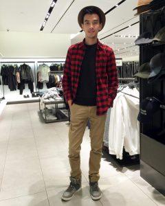 8 Red-Black Shirt Brown Pants