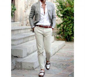 9 A Blazer & Cream White Pants