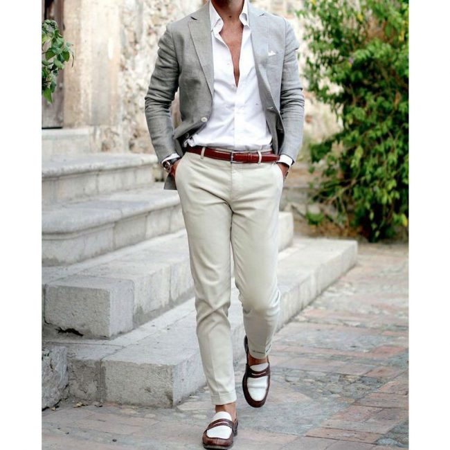 9 A Blazer & Cream White Pants