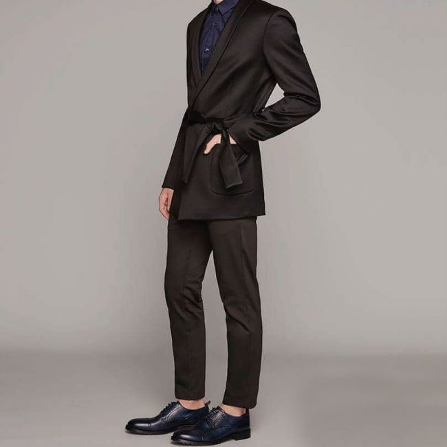 9 Black Pants & Luxury Black Suit Jacket