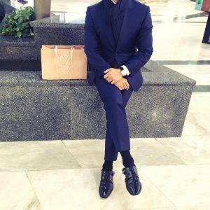 9 Blue Pinstripe Suit Up