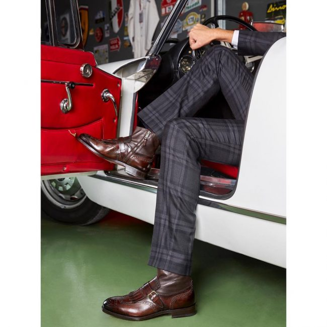 9 Brown Brogue Monk Boots