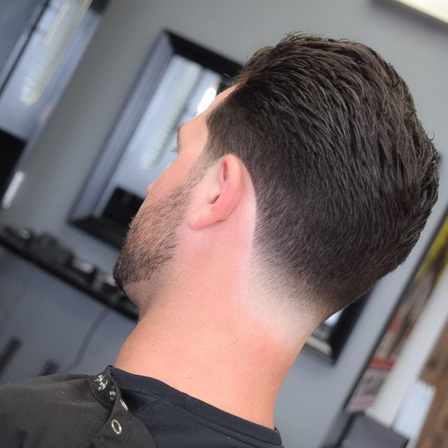 9 Messy Textured with Low Buzz Fade