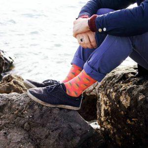 9 Pineapple Print Crew-Length Socks