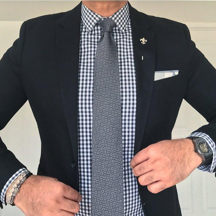 Black And White Checkered Shirt Men