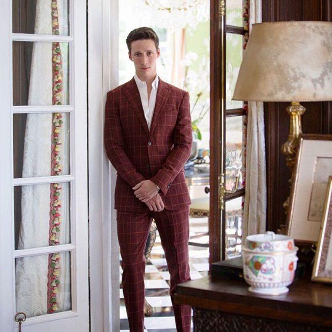 9 The Burgundy Windowpane Suit