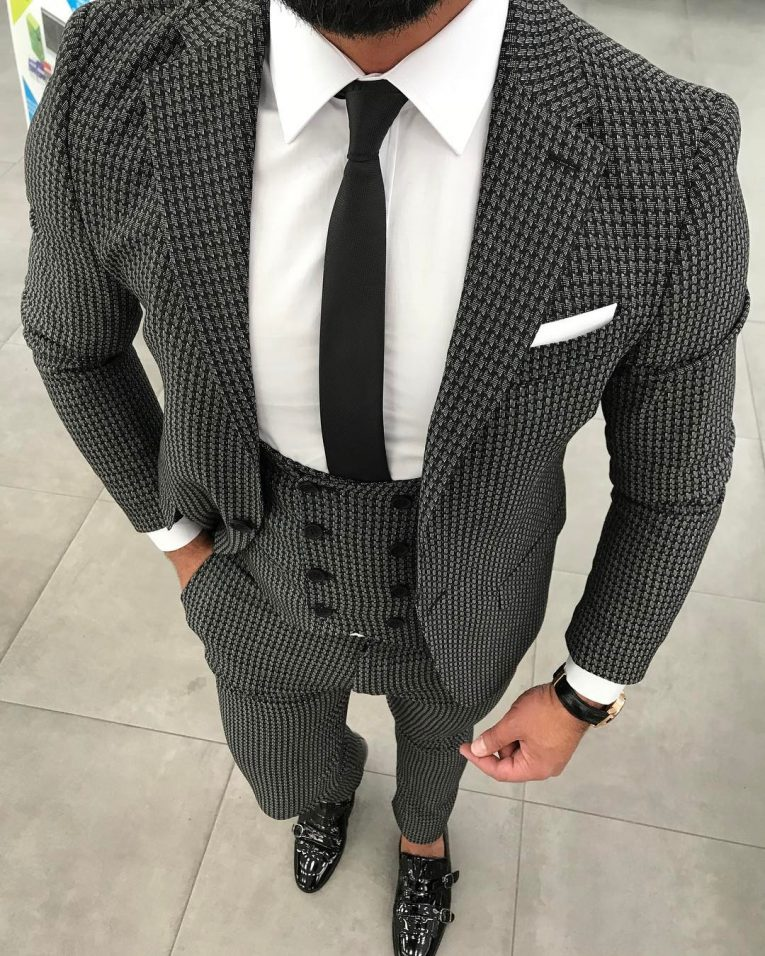 Black and White Suit 9