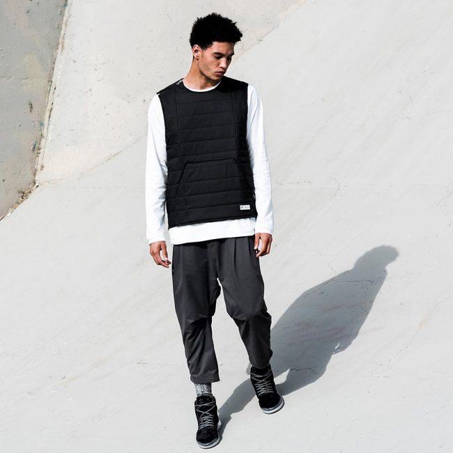 10 Black Hi-Tops with T-shirt and Cool Vest Coat
