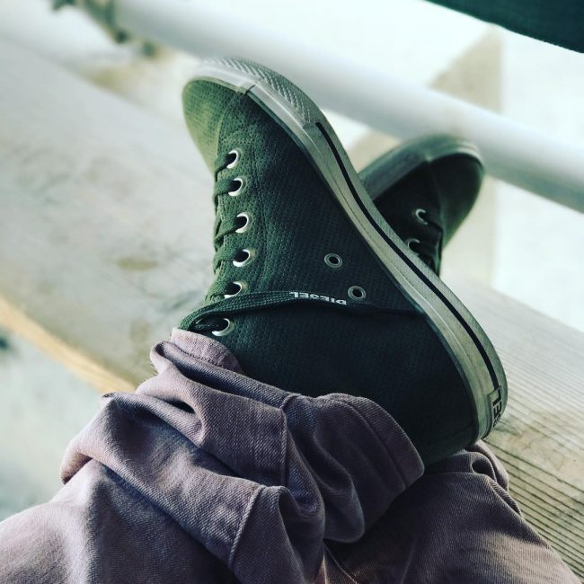10 Moss Green High Top Sneakers