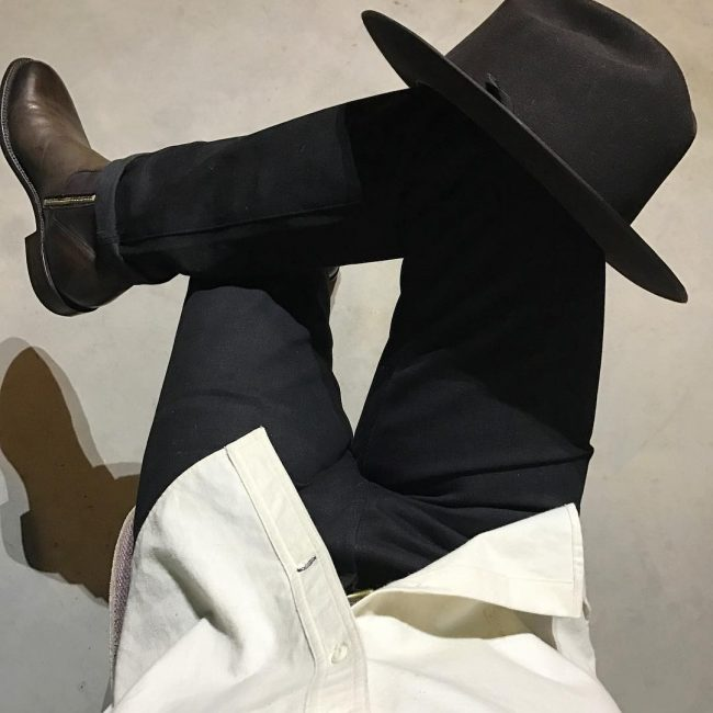 11 Roper Heel Boots with Black Selvedge