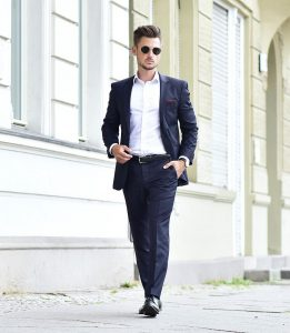 12 Regular Fit Single Breasted Navy Blue Suit