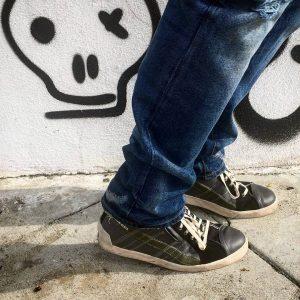 16 Black Low Cut Sneakers