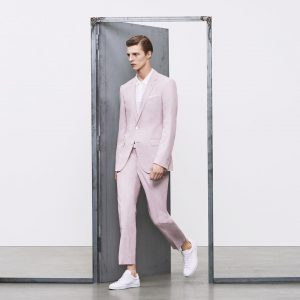 16 Relaxed Fit Pale Pink Suit