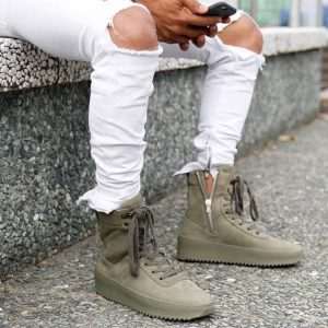 17 Jungle Green Zipped Low Cut Boots