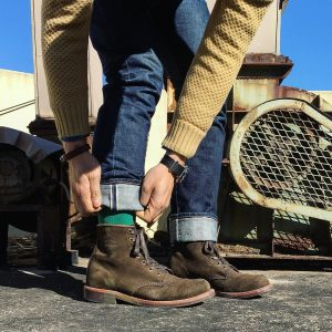 18 Jungle Green Suede Casual Boots