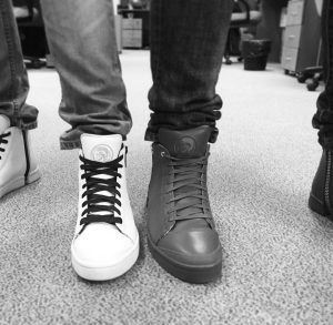 18 Zipped White High Cut Sneakers