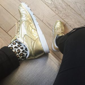 2 Silver Gold Sneakers