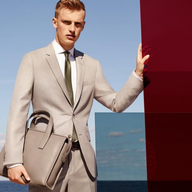 2 Single Breasted Brown Regular Structured Suit