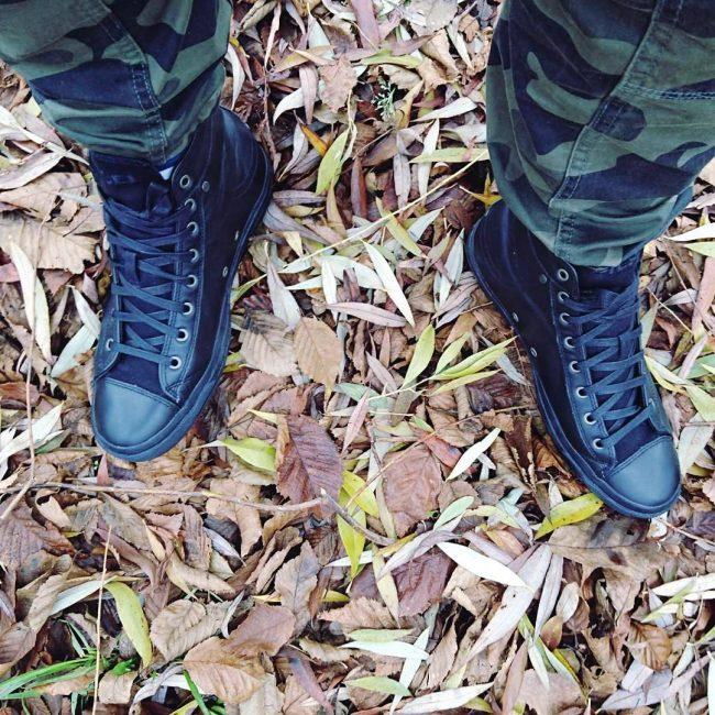 25 Black High Cut Sneakers
