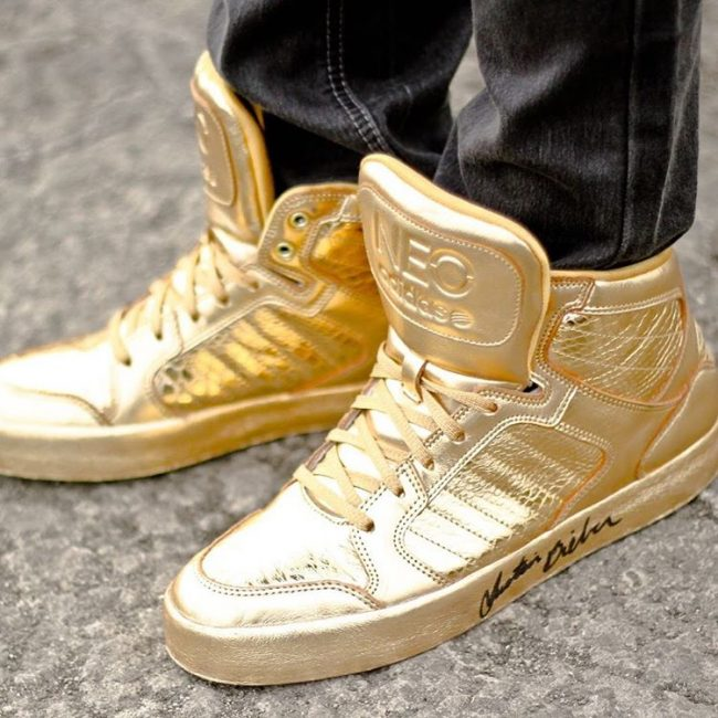 3 Gold Adidas Neo's Sneakers