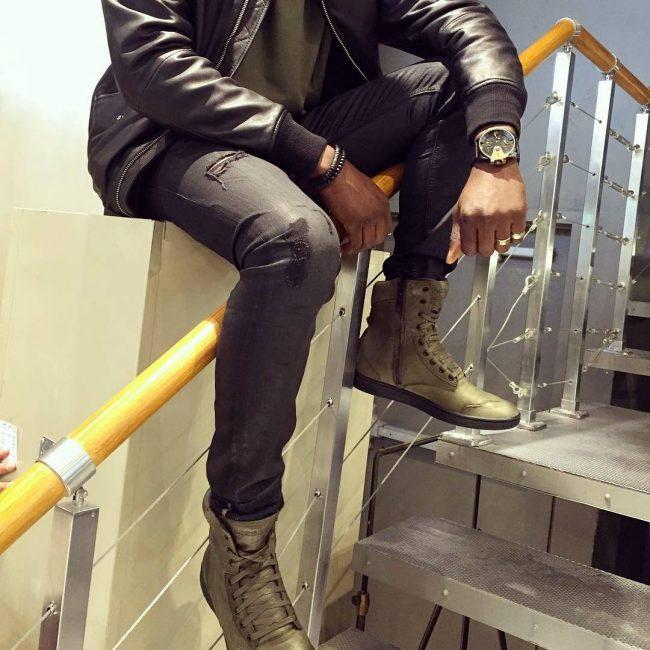 32 Golden-Gray High Cut Boots