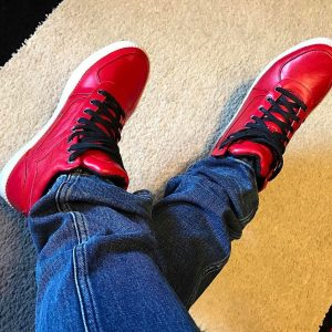 4 Red High Top Sneakers