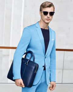 5 Fitted Single Breasted Sky Blue Suit