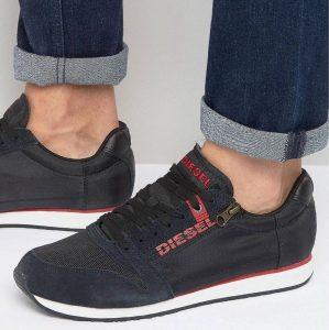 6 Black Designer Low Top Sneakers