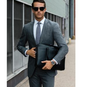 6 Structured Gray Wool Suit