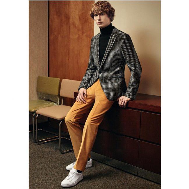 8 Brown Pants & Gray Tweed Blazer