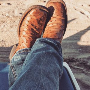 8 Ostrich Boots with Jeans