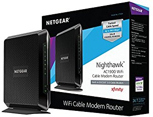 NETGEAR Nighthawk AC1900 (24x8) Wi-Fi Cable Modem Router (C7000) DOCSIS 3.0 Certified...