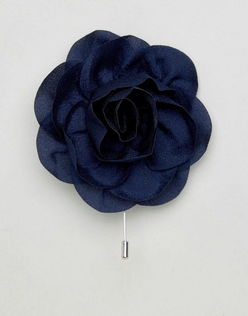 40 interesting looks with lapel pins for men the original accessory 45 asos wedding flower lapel pin in navy navy mightylinksfo