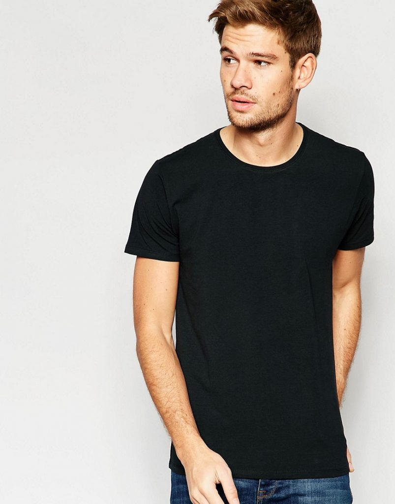 Black t shirt grunge -  26 0 Selected Homme Crew Neck T Shirt In Pima Cotton Black