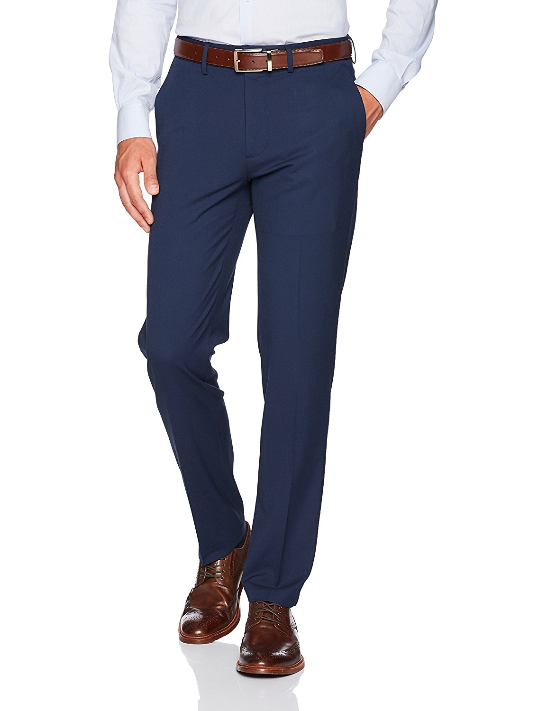 Haggar Men's J.M. Stretch Superflex Waist Slim Fit Flat Front Dress Pant