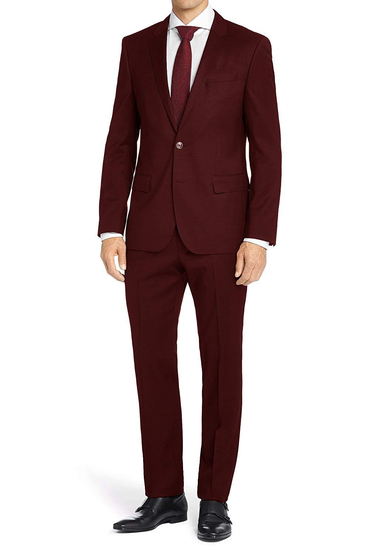 MDRN Uomo Men's Classic Fit 2 Piece Suit