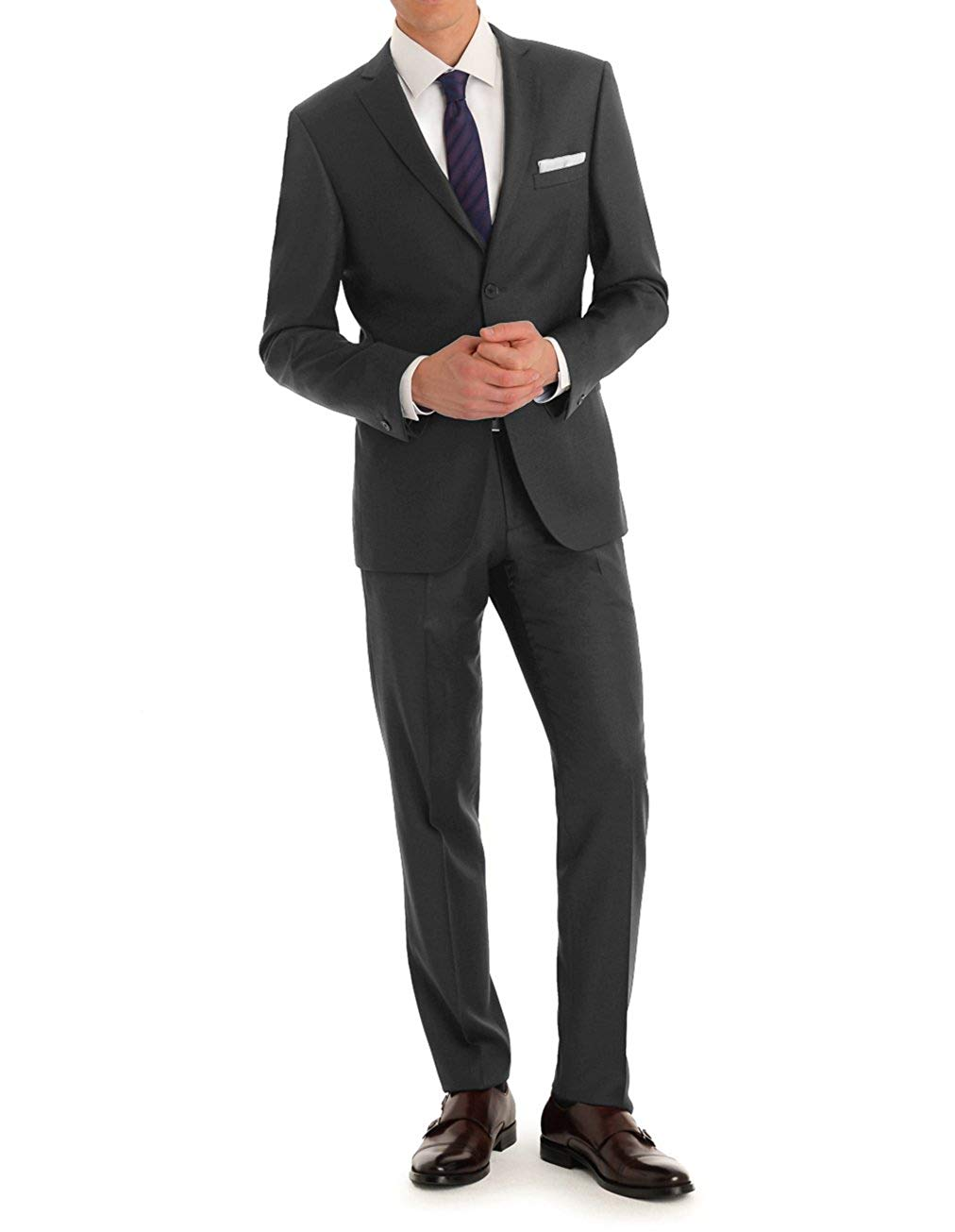 MDRN Uomo Men's Slim Fit 2 Piece Suit